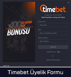 Timebet Kayıt Formu